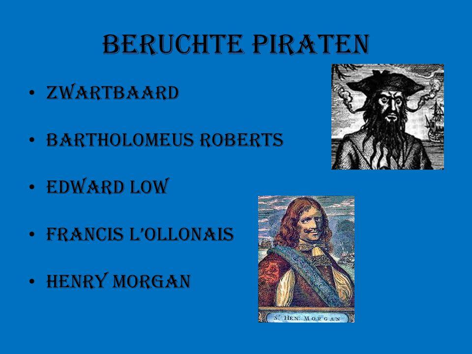Beruchte piraten Zwartbaard Bartholomeus Roberts Edward Low