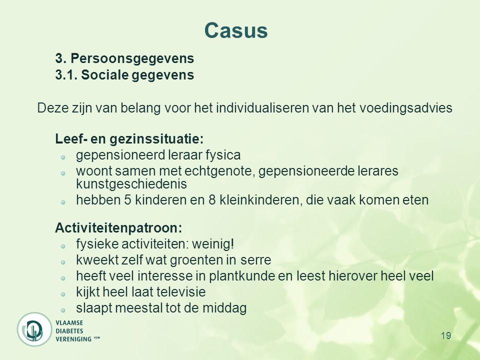 Casus 3.1. Sociale gegevens
