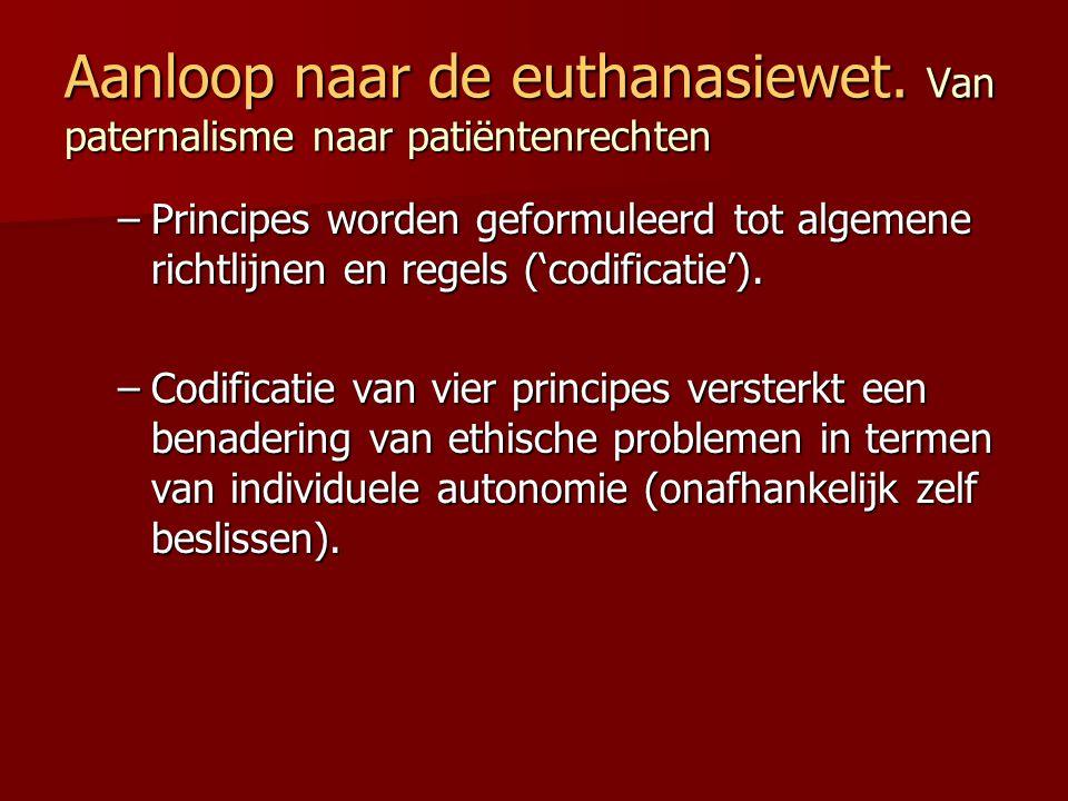 Aanloop naar de euthanasiewet. Van paternalisme naar patiëntenrechten