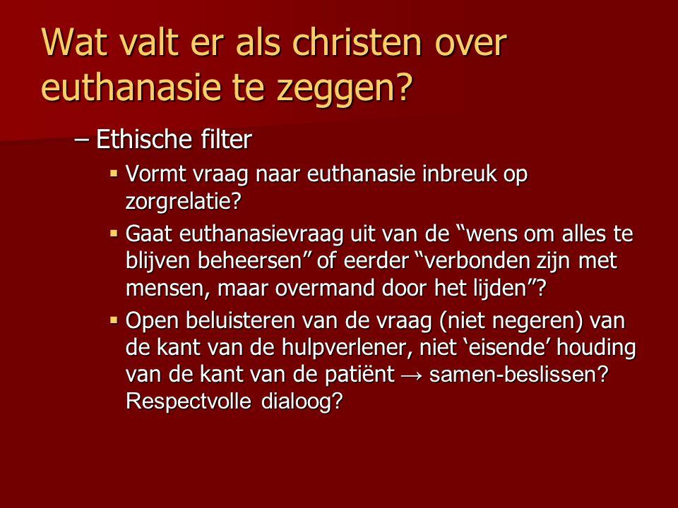 Wat valt er als christen over euthanasie te zeggen