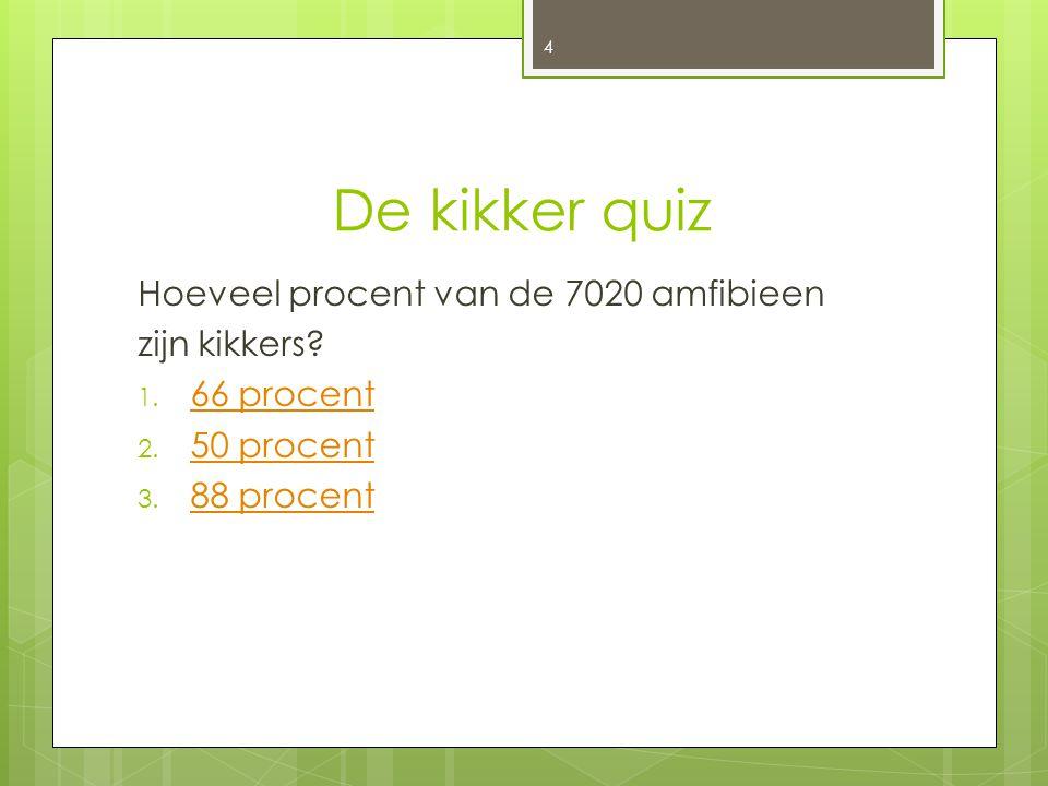 De kikker quiz Hoeveel procent van de 7020 amfibieen zijn kikkers