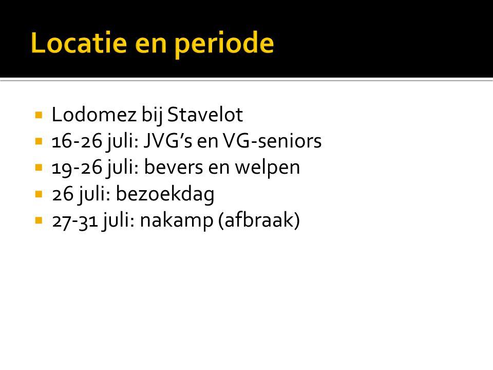 Locatie en periode Lodomez bij Stavelot