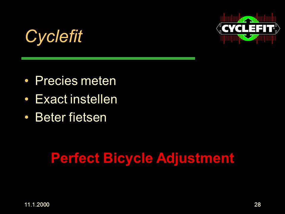 Perfect Bicycle Adjustment