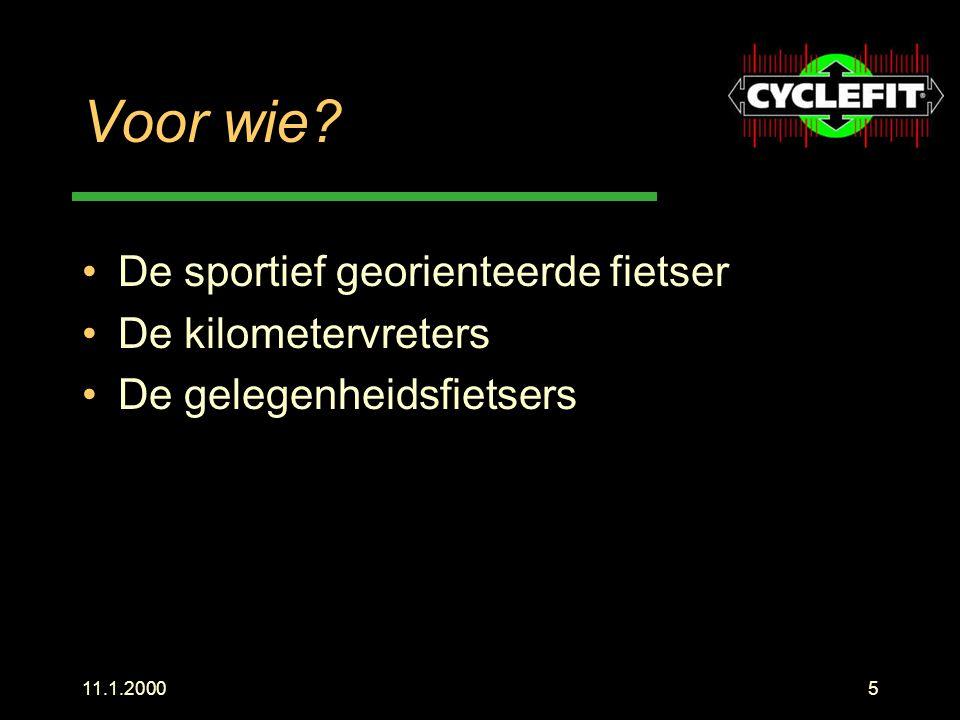 Voor wie De sportief georienteerde fietser De kilometervreters