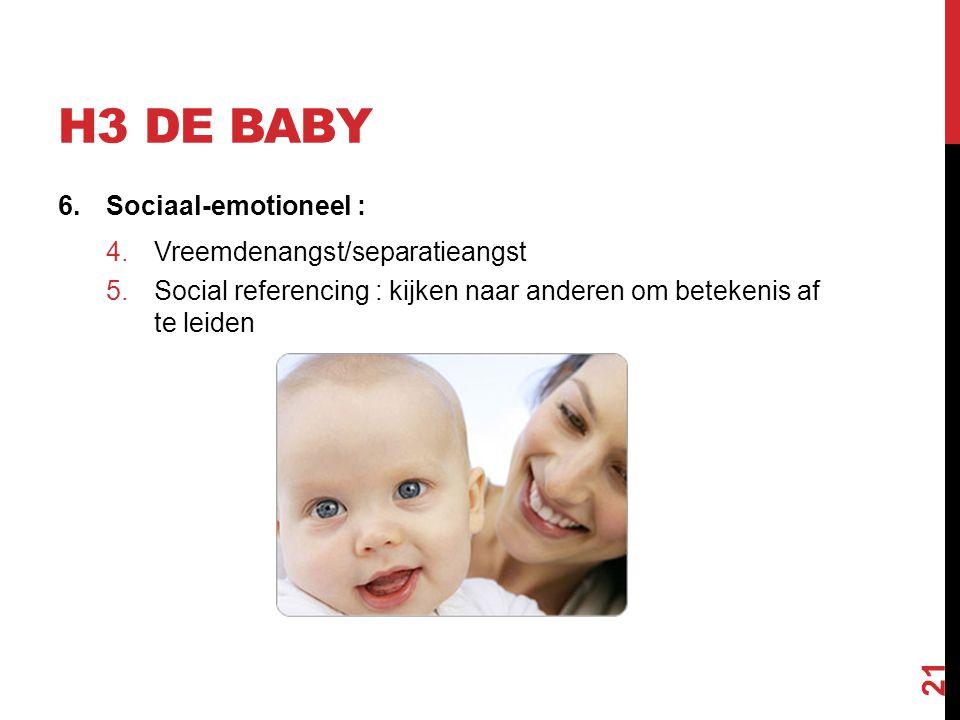 H3 de Baby Sociaal-emotioneel : Vreemdenangst/separatieangst