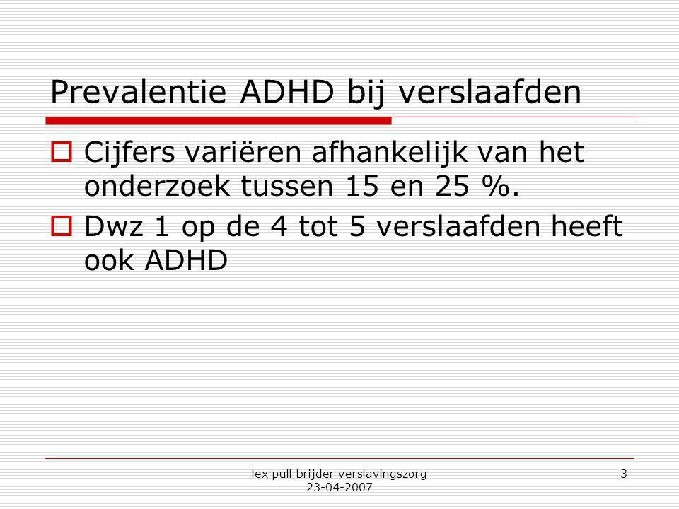 Prevalentie ADHD bij verslaafden
