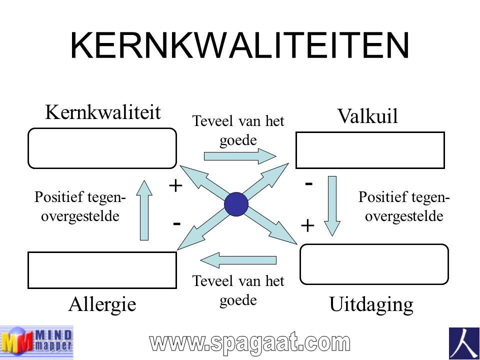 KERNKWALITEITEN - + - + www.spagaat.com Kernkwaliteit Valkuil Allergie