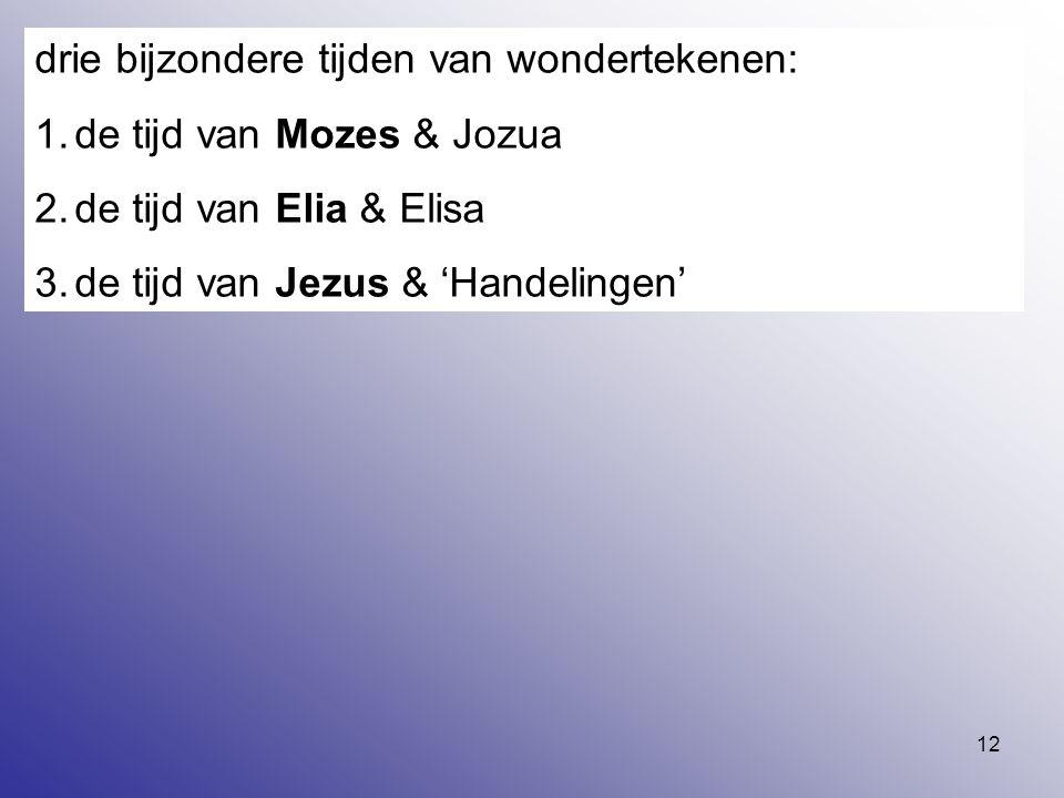 drie bijzondere tijden van wondertekenen: