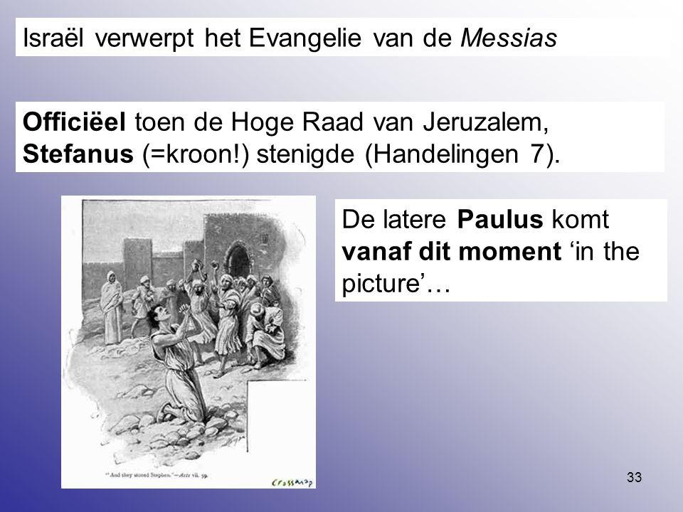 Israël verwerpt het Evangelie van de Messias