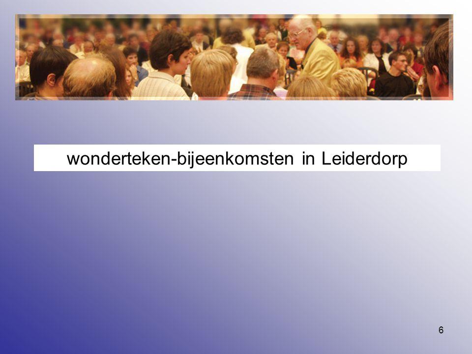 wonderteken-bijeenkomsten in Leiderdorp