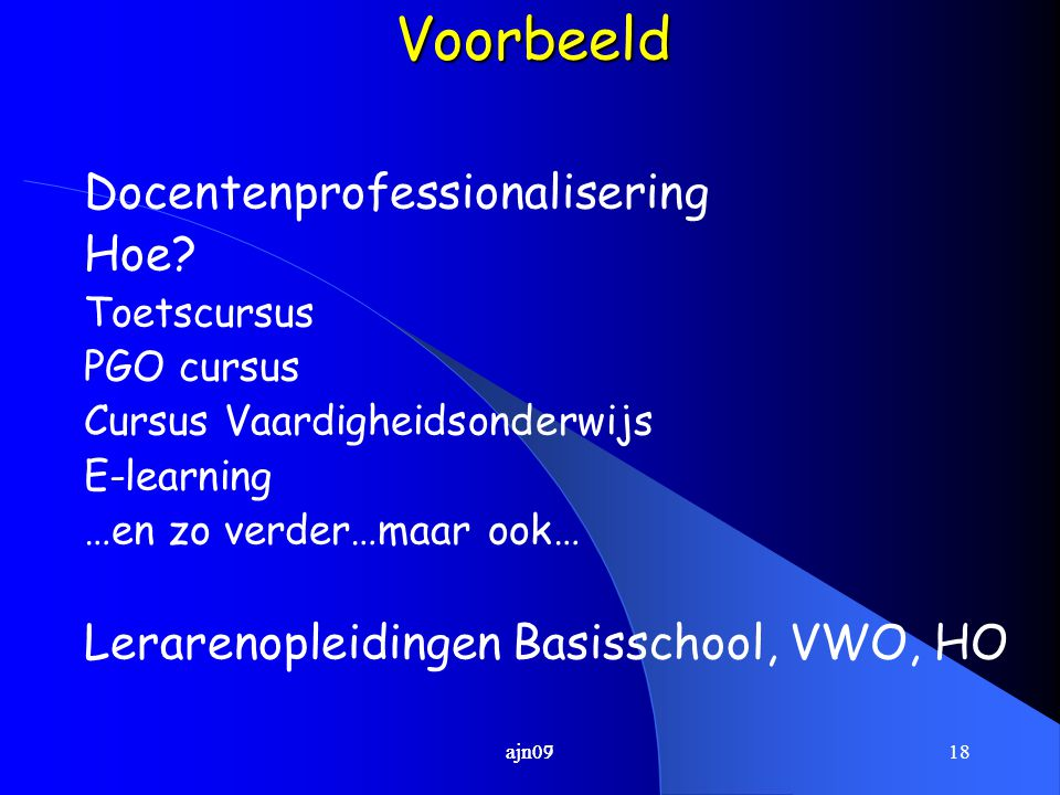 Voorbeeld Docentenprofessionalisering Hoe
