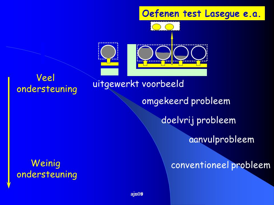Oefenen test Lasegue e.a.
