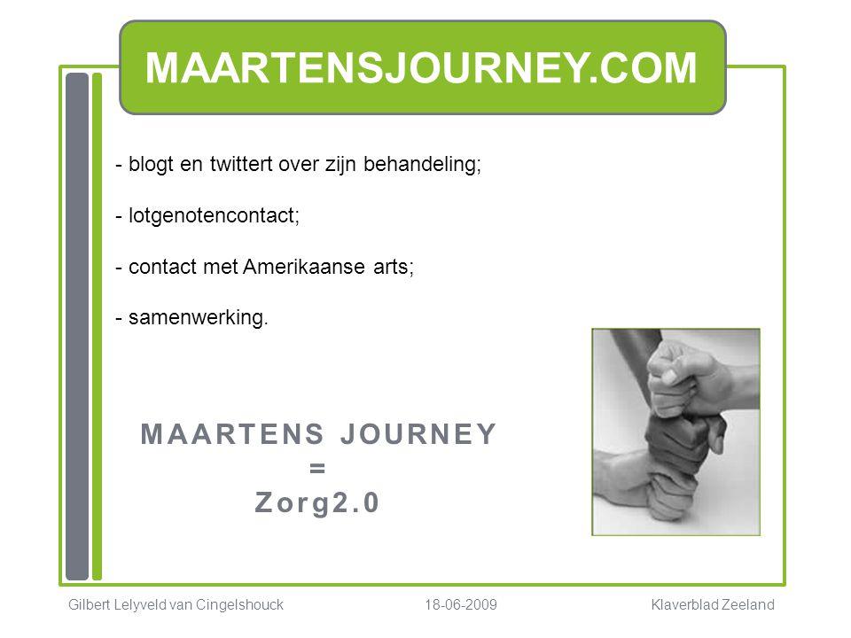 MAARTENS JOURNEY = Zorg2.0