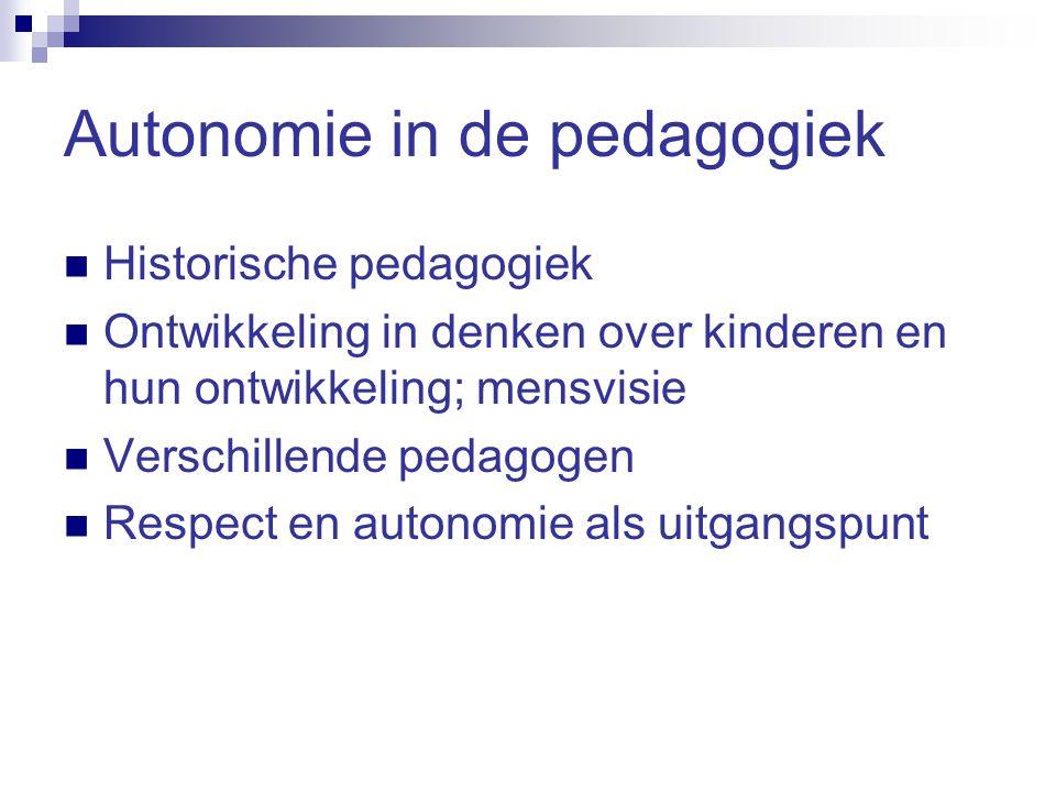 Autonomie in de pedagogiek