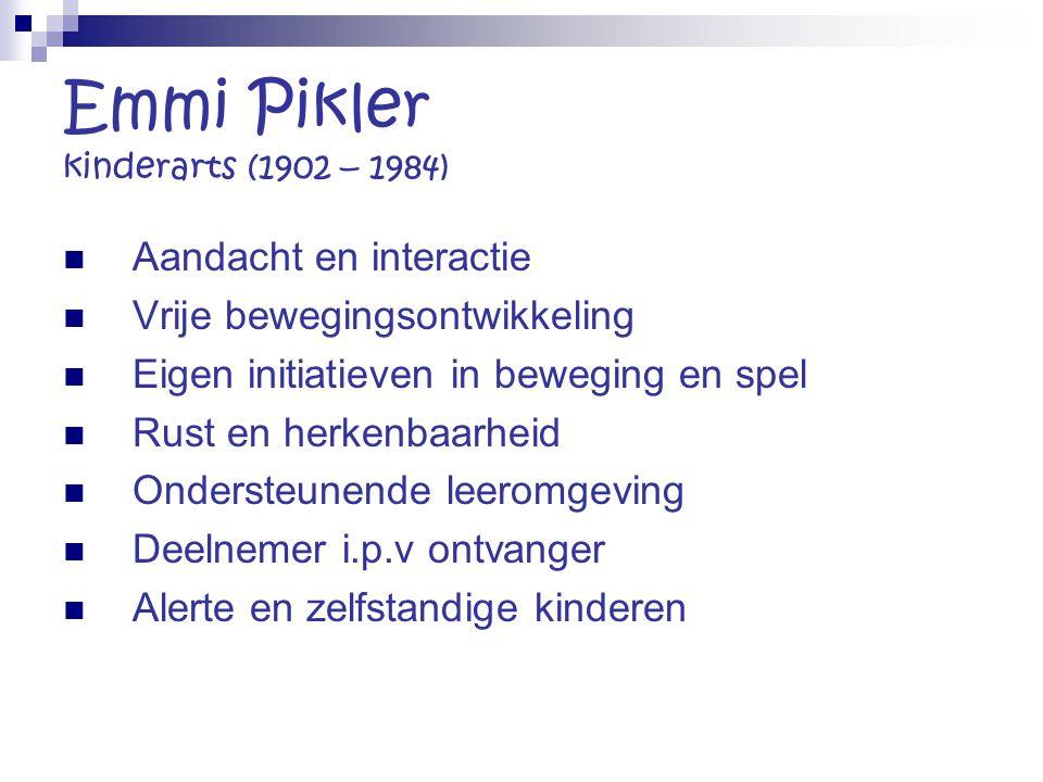 Emmi Pikler kinderarts (1902 – 1984)