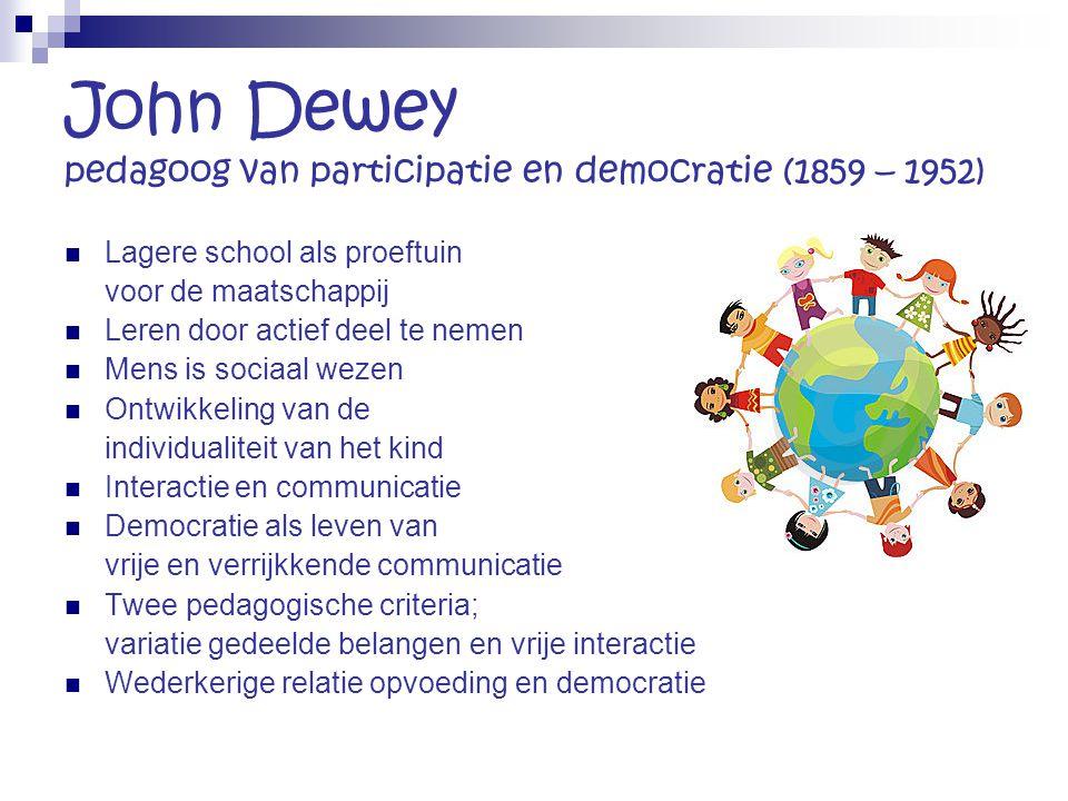 John Dewey pedagoog van participatie en democratie (1859 – 1952)