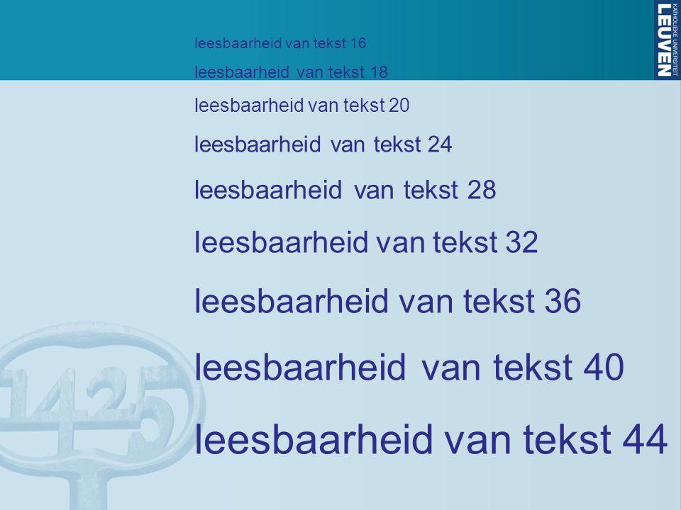 leesbaarheid van tekst 44