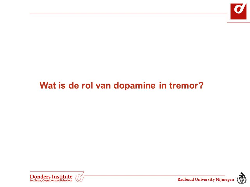 Wat is de rol van dopamine in tremor