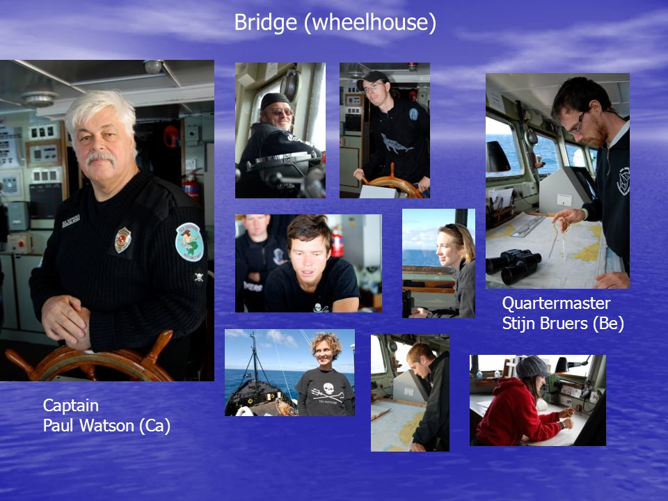 Bridge (wheelhouse) Quartermaster Stijn Bruers (Be) Captain