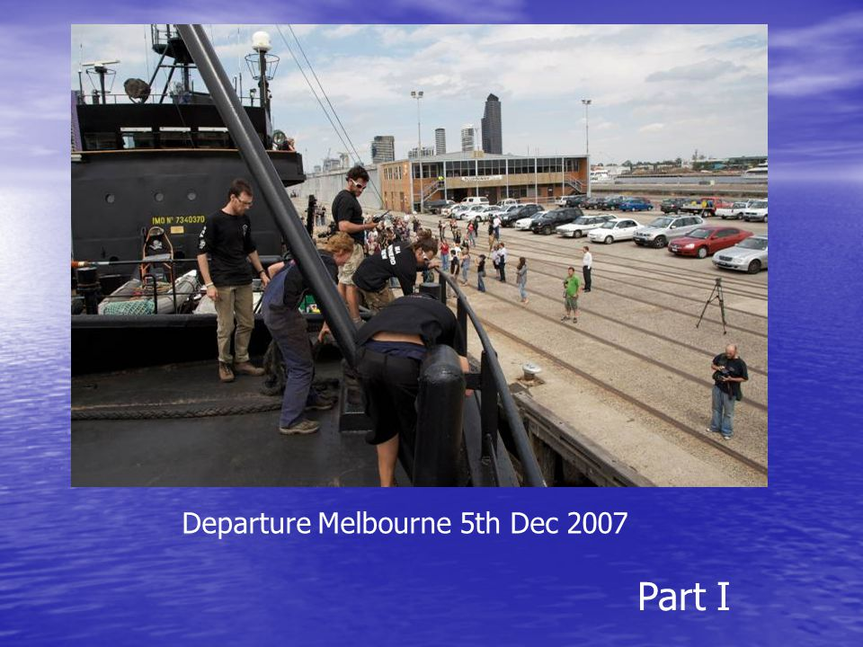 Departure Melbourne 5th Dec 2007