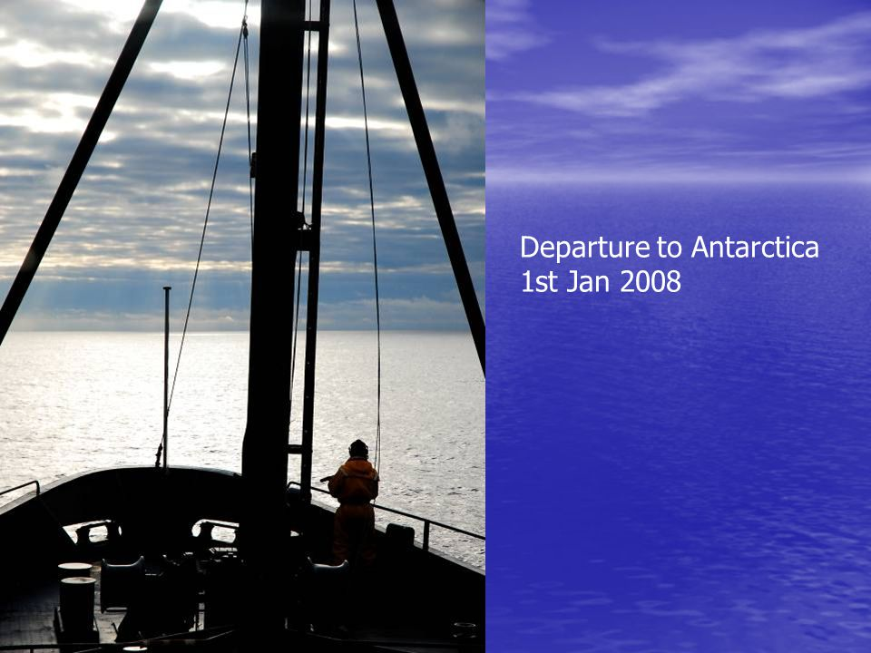 Departure to Antarctica