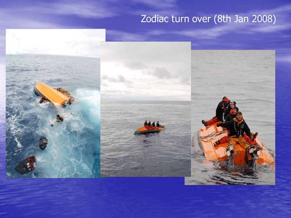 Zodiac turn over (8th Jan 2008)