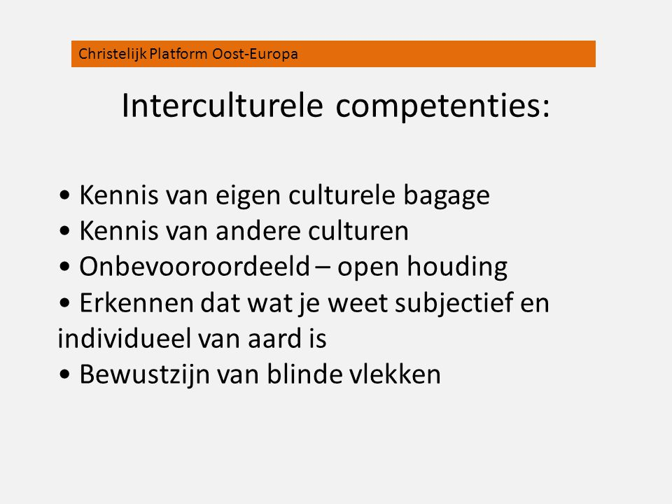 Interculturele competenties: