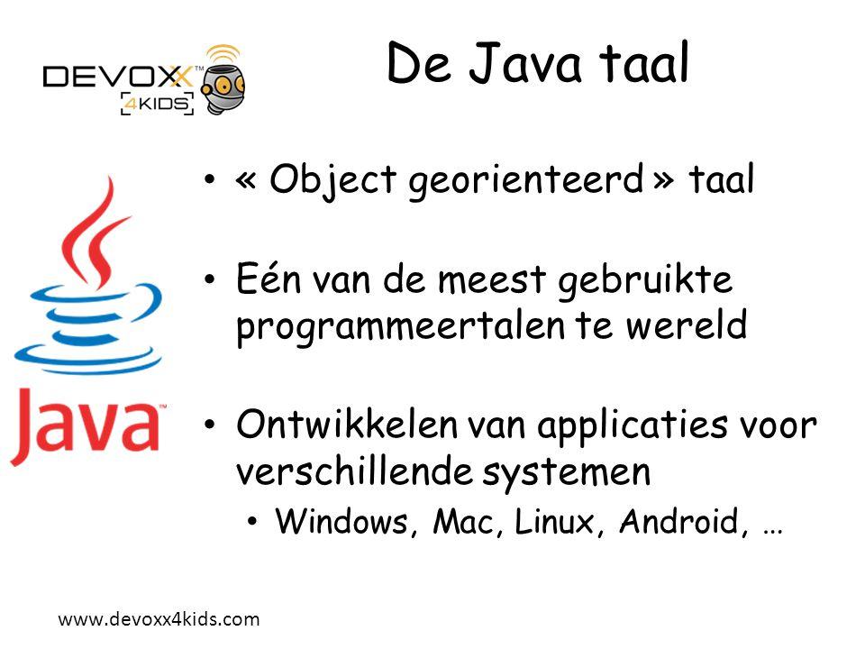 De Java taal « Object georienteerd » taal