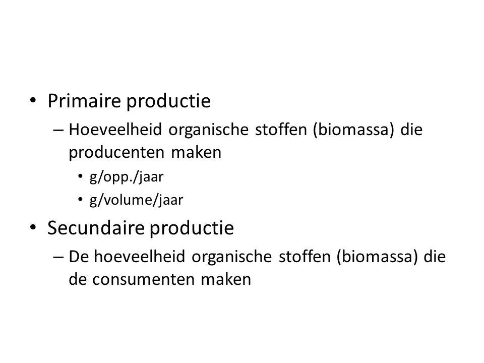 Primaire productie Secundaire productie