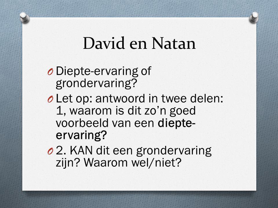 David en Natan Diepte-ervaring of grondervaring