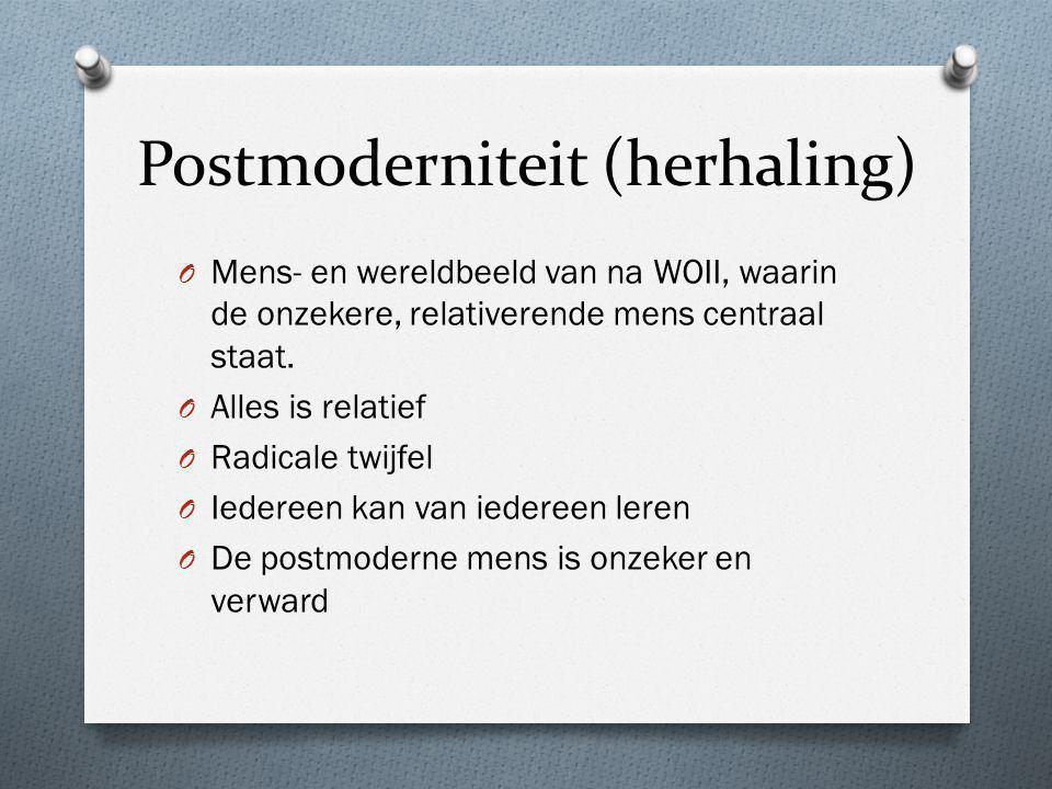 Postmoderniteit (herhaling)