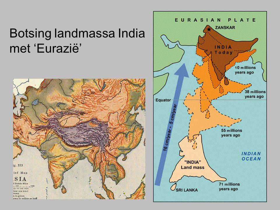 Botsing landmassa India