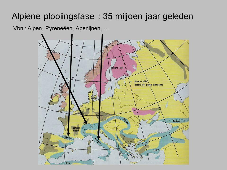 Alpiene plooiingsfase : 35 miljoen jaar geleden