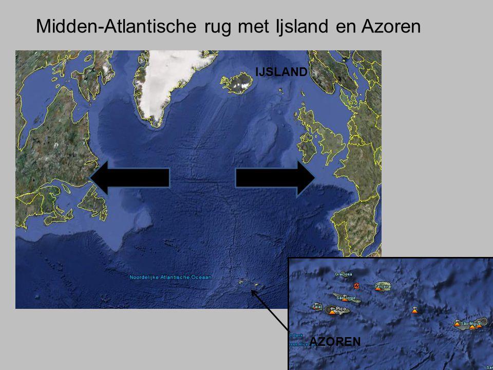 Midden-Atlantische rug met Ijsland en Azoren
