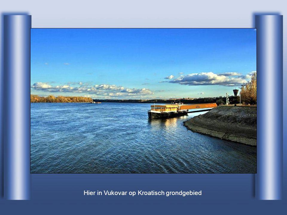 Hier in Vukovar op Kroatisch grondgebied