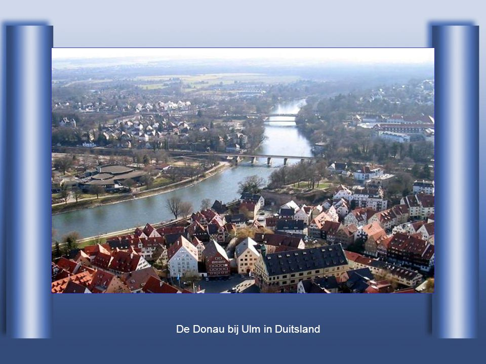 De Donau bij Ulm in Duitsland