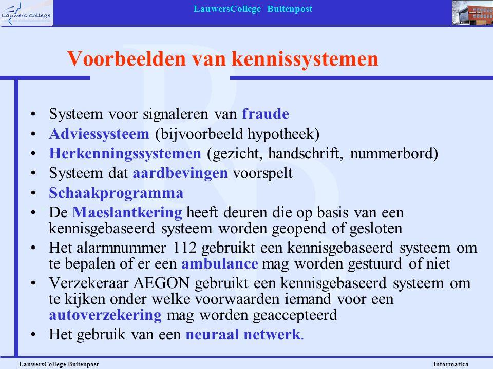 Voorbeelden van kennissystemen