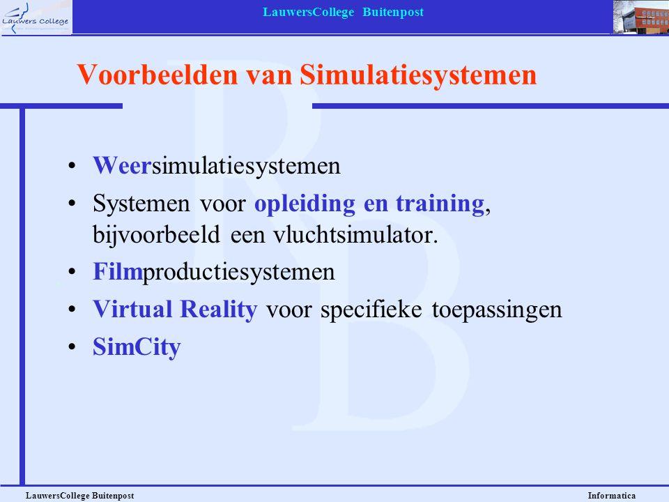 Voorbeelden van Simulatiesystemen