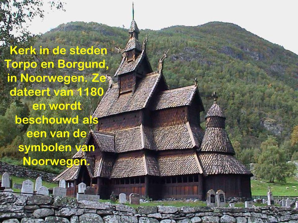 Kerk in de steden Torpo en Borgund, in Noorwegen