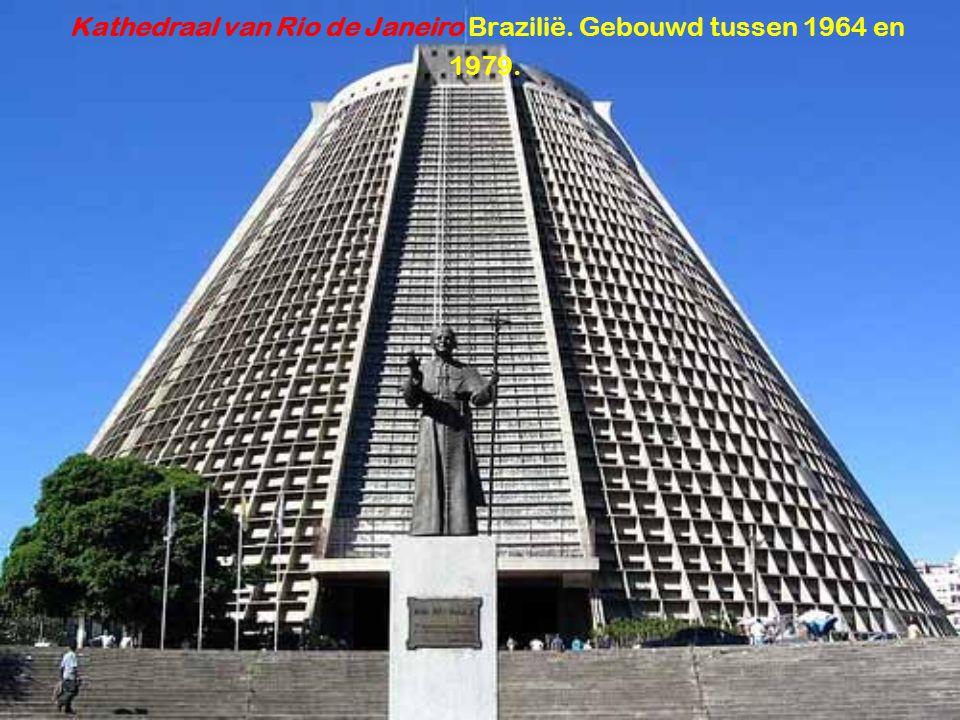 Kathedraal van Rio de Janeiro Brazilië. Gebouwd tussen 1964 en 1979.