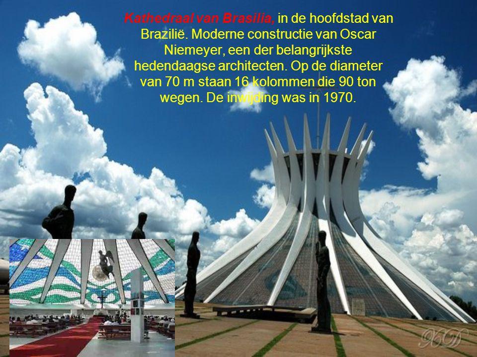 Kathedraal van Brasilia, in de hoofdstad van Brazilië
