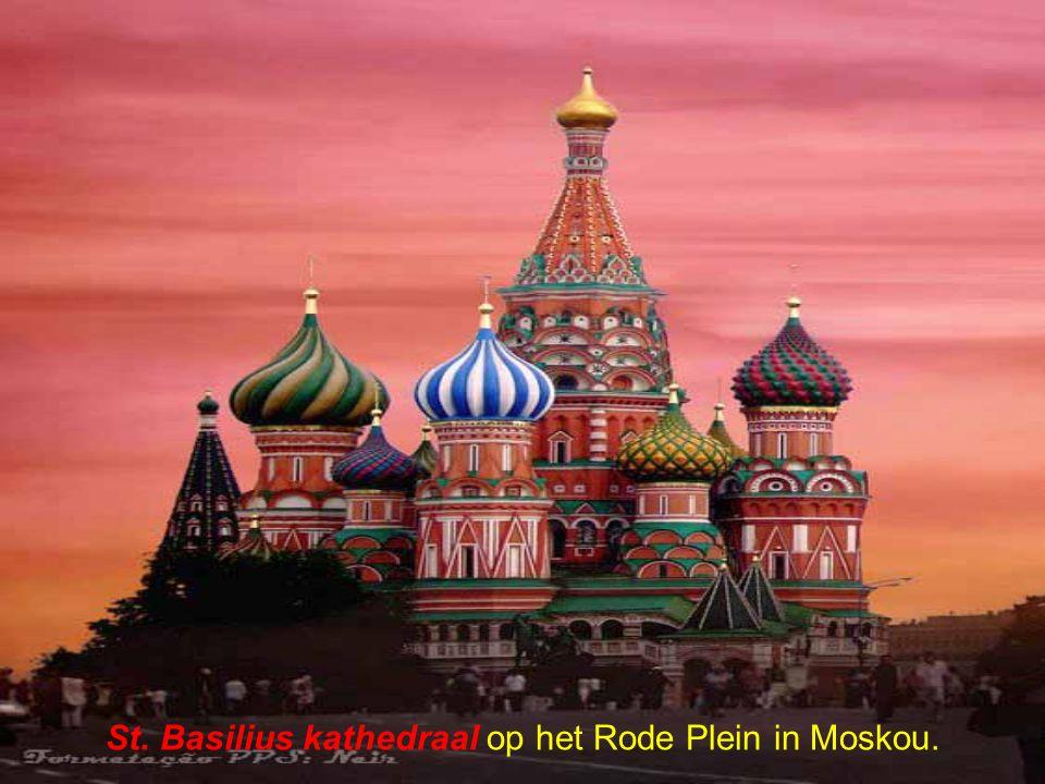 St. Basilius kathedraal op het Rode Plein in Moskou.