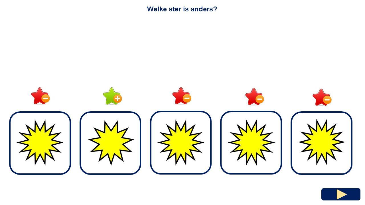 Welke ster is anders