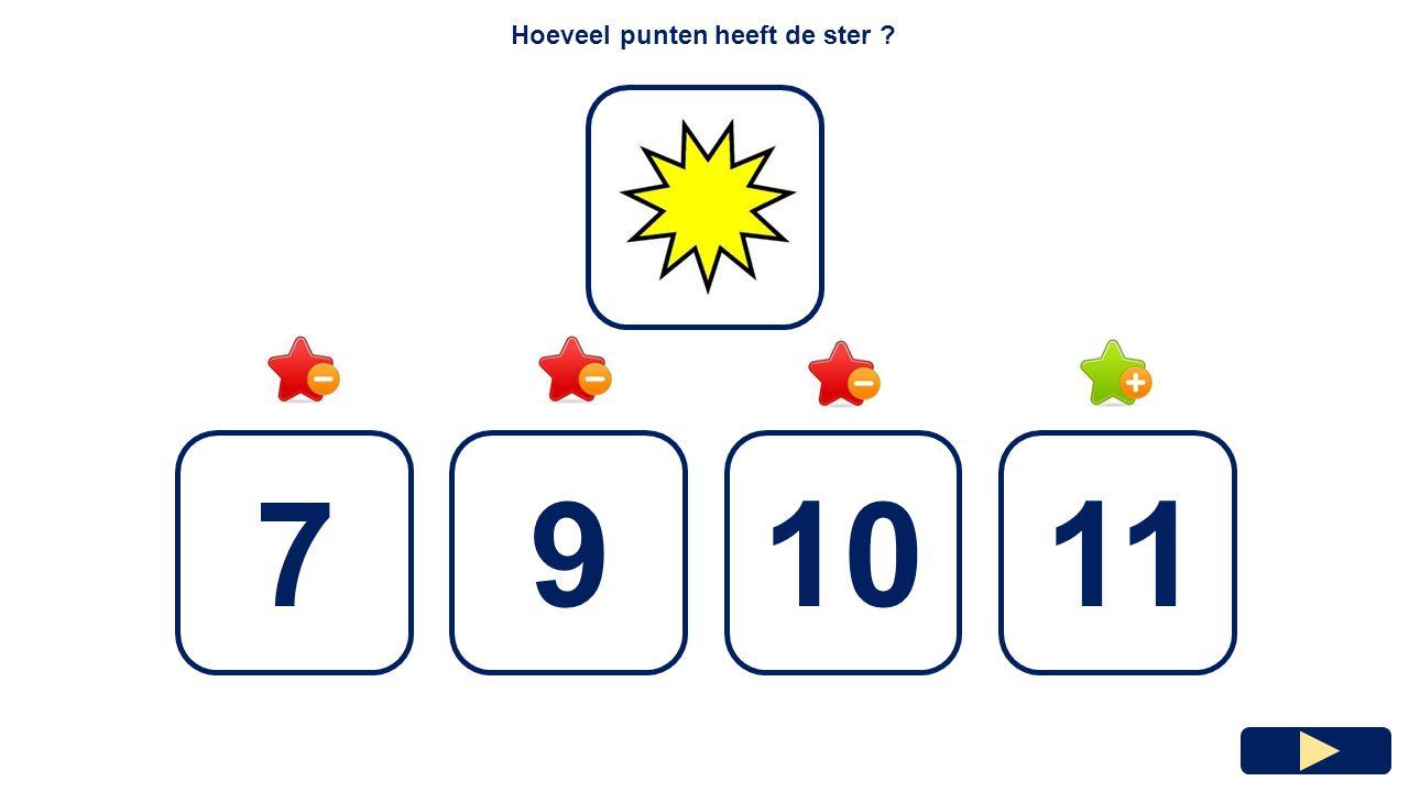 Hoeveel punten heeft de ster
