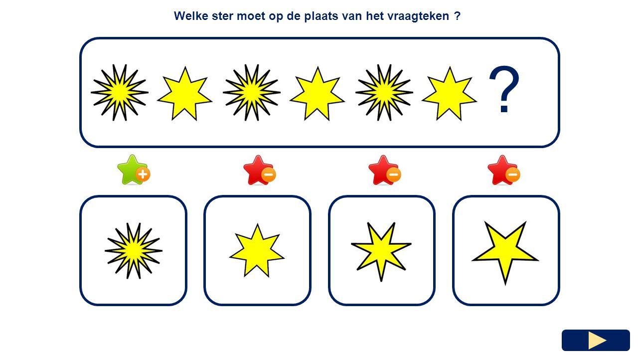 Welke ster moet op de plaats van het vraagteken