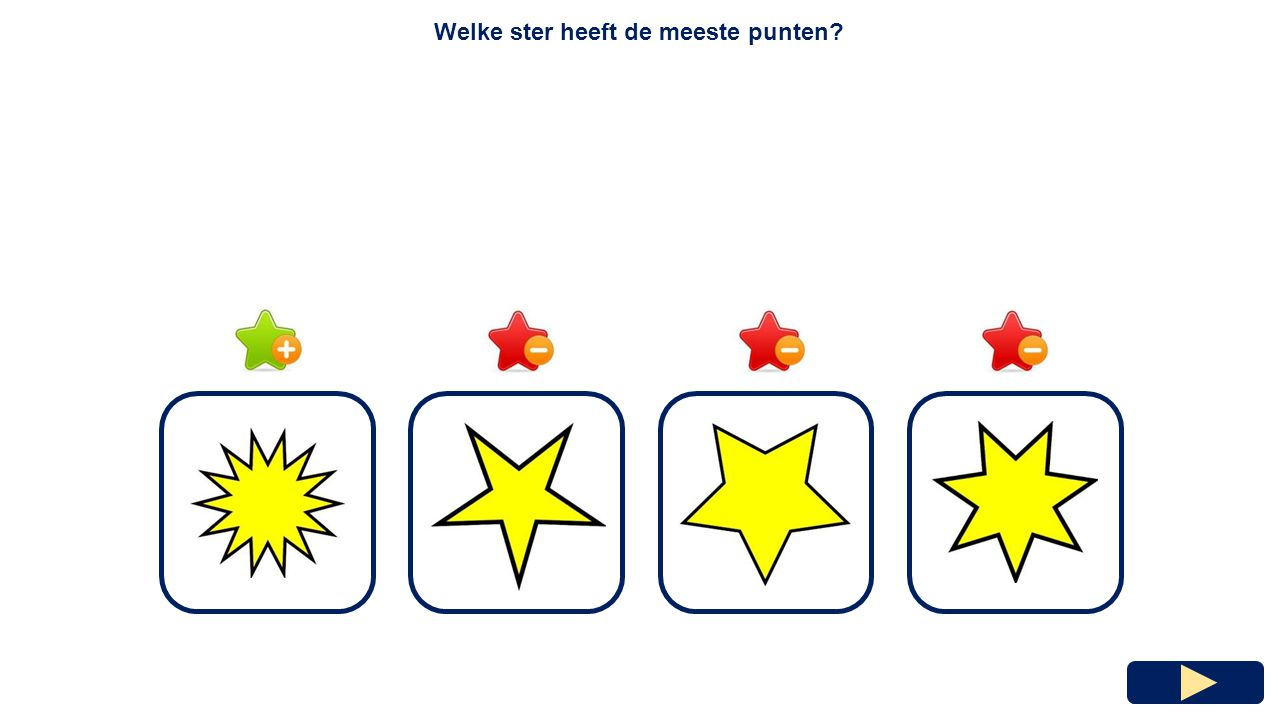 Welke ster heeft de meeste punten
