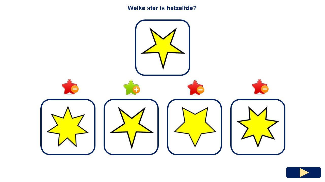 Welke ster is hetzelfde