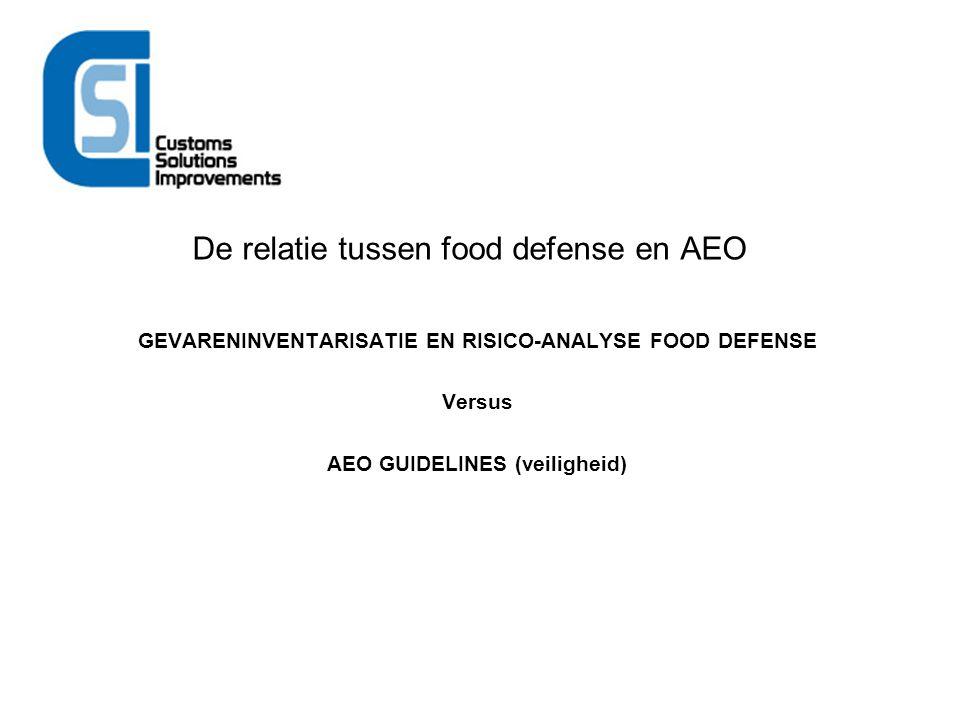 De relatie tussen food defense en AEO