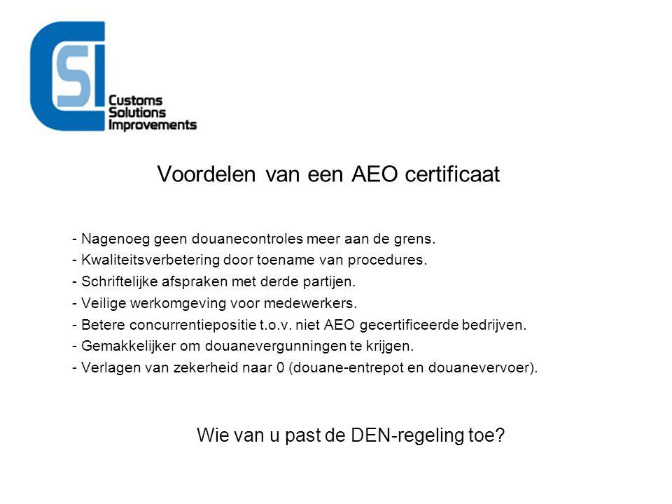 Voordelen van een AEO certificaat