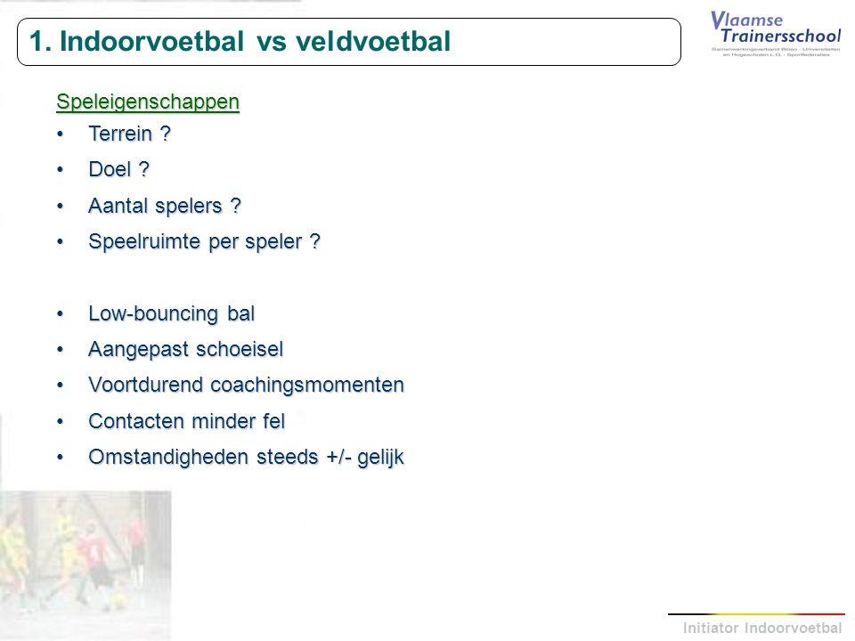 1. Indoorvoetbal vs veldvoetbal